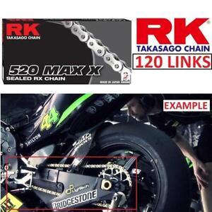 NEW RK TAKASAGO DRIVE CHAIN 530MAXX-120-PP 213773272 MOTORCYCLE CHAIN 530 MAX X PINK 120 LINKS