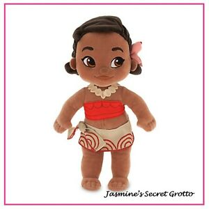 AUTHENTIC DISNEY ANIMATORS COLLECTION MOANA TODDLER PLUSH DOLL TOY NWT