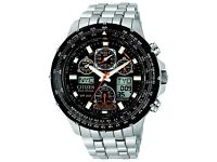 Citizen JY0010-50E SKYHAWK Eco Drive Radio Controlled Titanium Chronograph Watch