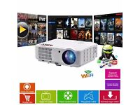 HD6000 Plus Home/Gaming LED Smart Android Projector & FREE Screen Of Your Choice