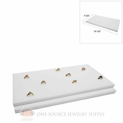 2 White Ring Display Pads Holds 72 Slot Rings Tray Or Case Jewelry Insert