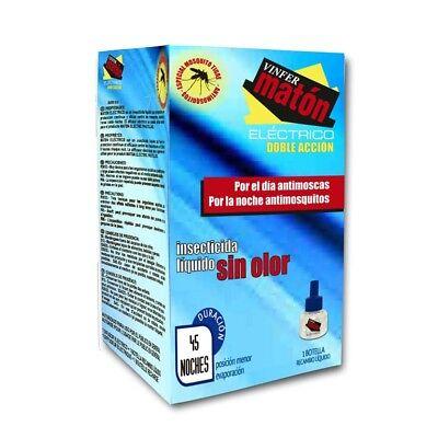 VINFERMATÓN ELÉCTRICO: Recambio botella. Insecticida anti - mosquitos. 45 noches