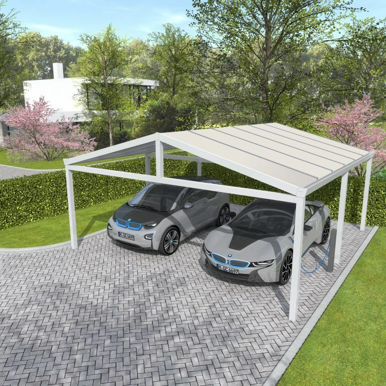 bernstein aluminium carport pulverbeschichtet 5400 x. Black Bedroom Furniture Sets. Home Design Ideas