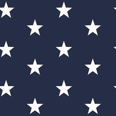 Navy Sterne (Baumwollstoff Navy Blau Sterne METERWARE Webware Popeline Stoff STERNE)