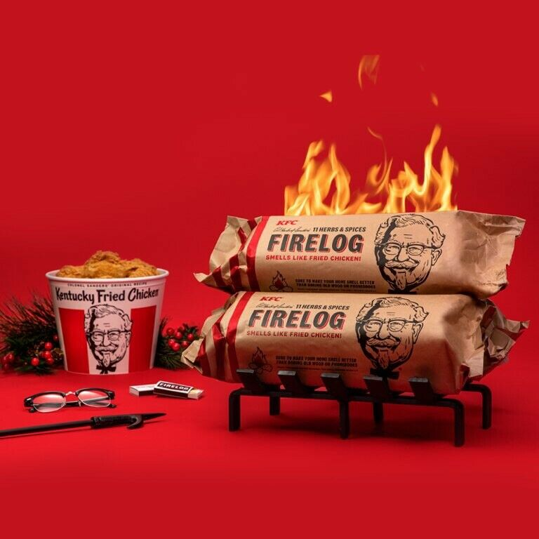 Lot Of 2 Enviro Log KFC Fried Chicken Scented 11 Herbs & Spices Firelog