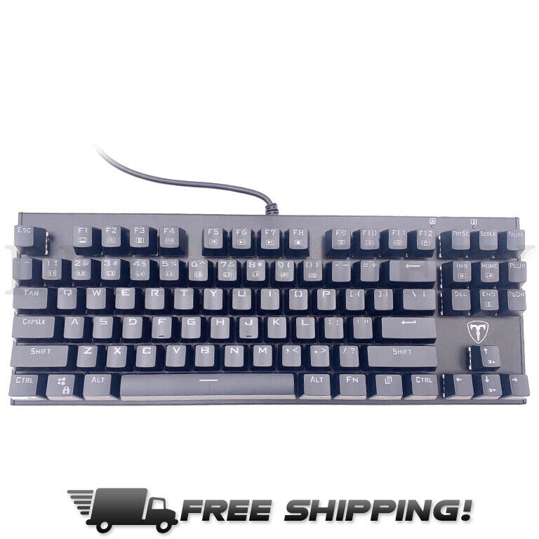87 Key Water Resistant Mechanical Gaming Keyboard W/ Blue SwitchesSQ