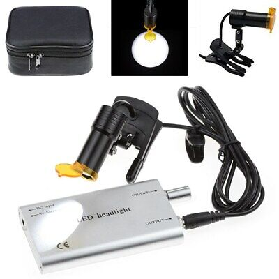 Dental Medical 5w Led Head Light With Filter Clip-on Head Light Silver Us Stock