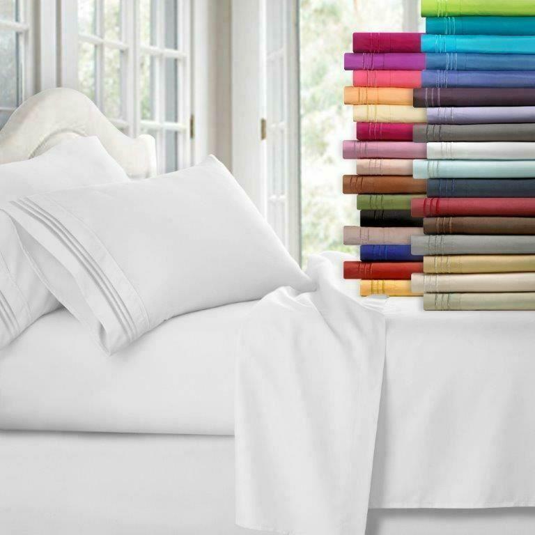 Egyptian Comfort 1800 Count 4 Piece Bed Sheet Set Deep Pocke