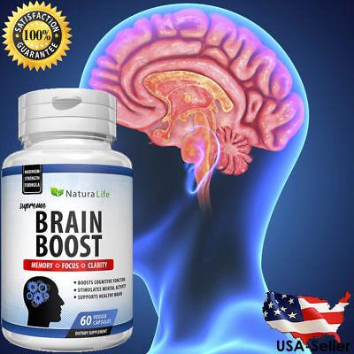 #1 Best Brain Booster Supplement Memory Focus Mind & Clarity Enhancer 60