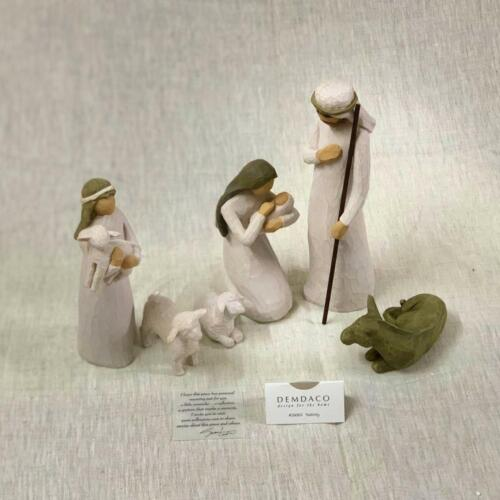 Willow Tree Nativity| 26005_sculpted hand-painted nativity figures| 6-piece set