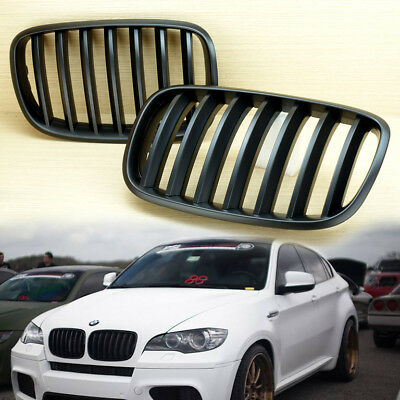 - BMW E70 SUV X5 X6  FRONT GRILLS GRILLE KIDNEY MATTE BLACK & Gift USB CABLE