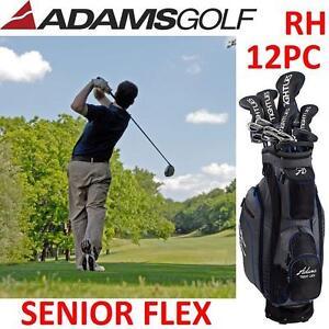 NEW ADAMS 12PC GOLF SET RH - 122996758 - RIGHT HANDED SENIOR FLEX
