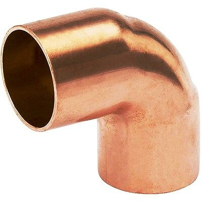 Bag Of 10 1 Copper Fitting 90 Degree Sweat Elbow Cxc