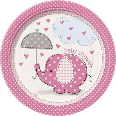 Umbrella Elephant Pink Girl Baby Shower 8 7