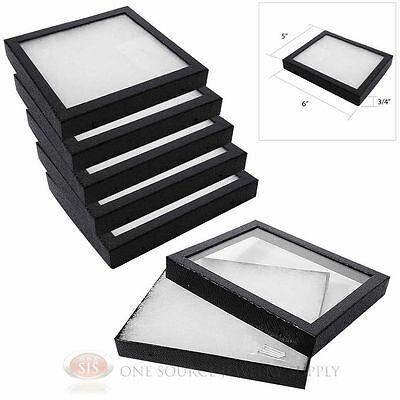 "6 New Riker Boxes Display Mount Riker Display Cases Medium Size 6"" x 5"""