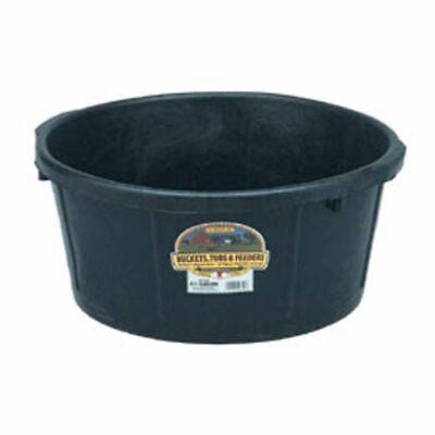 6.5 Gallon Rubber Tub Pet Livestock Feeding Shop Supplies Multi Purpose Black