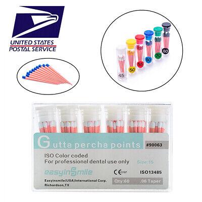 Easyinsmile Dental Absorbent Gutta Percha Point All Tapersize 13box Endodontic