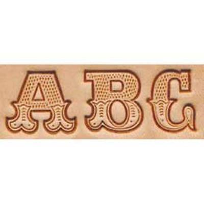 "Craftool 3/4"" Art Alphabet Stamp Set Tandy Leather 8145-00 Free Priority to US!"