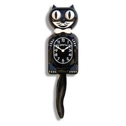 Classic  KIT KAT CLOCK - BLACK KITTY CAT CLOCK -  MADE IN THE USA - FS USA