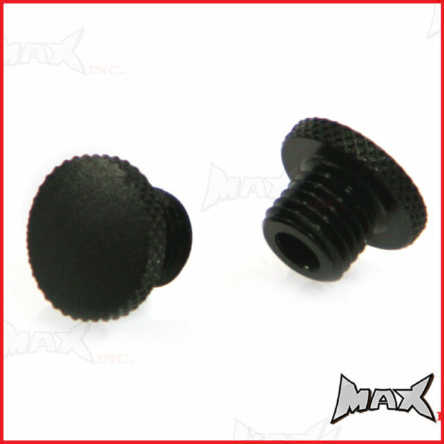 Alloy Threaded M10 Mirror Block Off Plugs - Suzuki DR 650 R S SE DR750 DR800