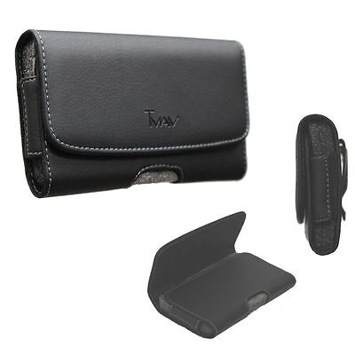 Slim Fit Horizontal Leather Belt Holster Carry Pouch Case for ZTE Grand X4  Deluxe Horizontal Leather Pouch Case