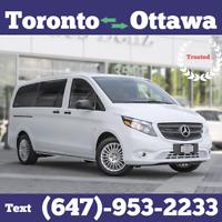 DAILY $30 Toronto to Ottawa Rideshare Today