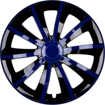 """Radzierblenden Set """"Gral"""" 14 ZOLL in Blau Schwarz 4x PREMIUM DESIGN Radkappen"""