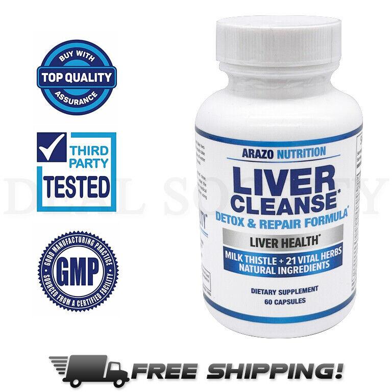 Liver Cleanse Detox & Repair Formula Milk Thistle Support Su