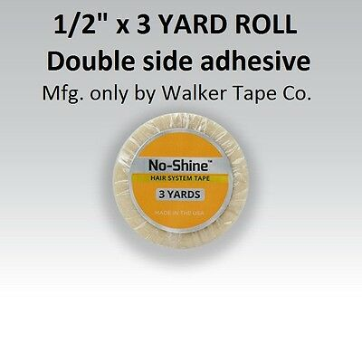 No Shine Lace Support Tape 1/2 in X 3 yardsFull Head Bond NEW LABEL for sale  Shipping to India