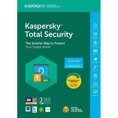 Used, Kaspersky Total Security 2017 2018 5 Devices/1 Year|Global key|Instant delivery for sale  Shipping to South Africa