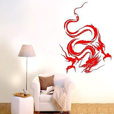 One Dragon Abstract Wall Decor Removable Home Vinyl Decal Sticker Art DIY Mural
