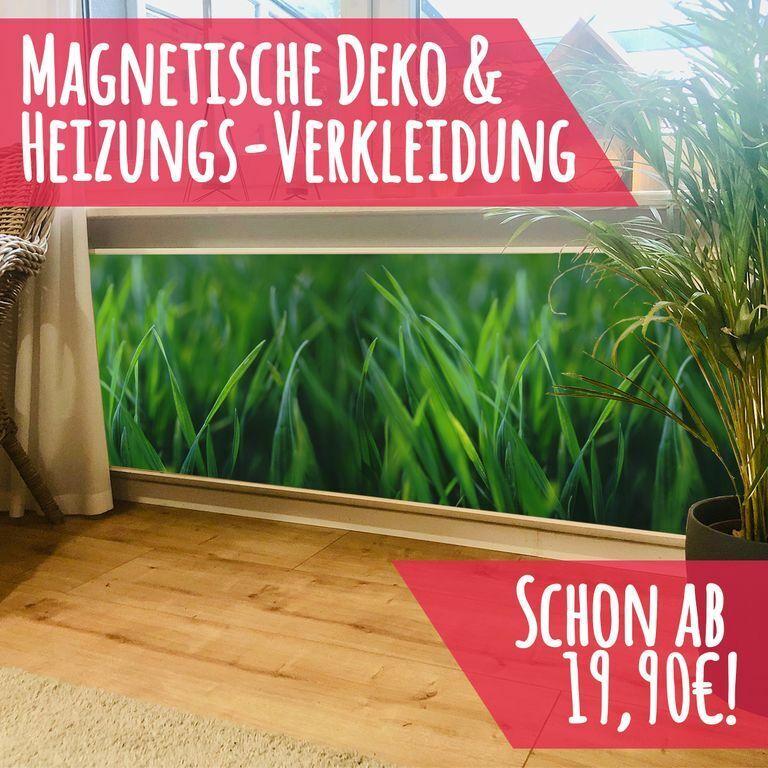 Magnet Heizkörperverkleidung Heizkörperabdeckung Heizung Schutz Motiv Gras