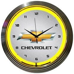 Wall Clock 15 GM Chevrolet Tribute Car Sign GameRoom Bar ManCave Classic Auto