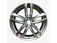 """Quartz Silver x4 19"""" Rs6-C Style Alloy Wheels 8.5J Et35 Audi A4 A6 Q2 5x112"""