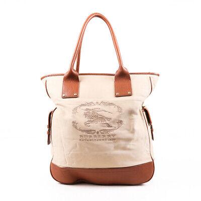 Burberry Tote Bag Brown Logo Nylon