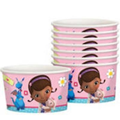 Doc McStuffins treat cups for ice cream foyo dessert bowls 8ct paper 8.5oz](Doc Mcstuffins Cups)