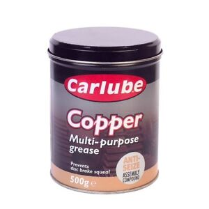 CARLUBE COPPER SLIP 500g MULTI PURPOSE ANTI SEIZE ASSEMBLY COMPOUND GREASE