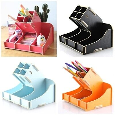 DIY Desk Storage Paper Box Stationery cosmetics Display Pen holder - Diy Desk Organizer