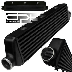 27-X5-5-X2-5-ALUMINUM-BLACK-FMIC-BAR-PLATE-FRONT-MOUNT-TURBO-INTERCOOLER