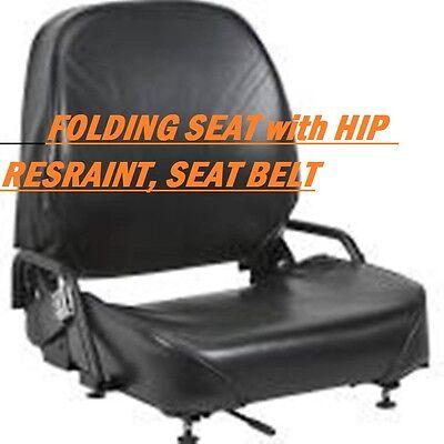 Folding Forklift Seat Crown Nissan Cat Clark Caterpillar Daewoo Komatsu Baker
