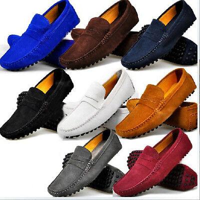 Fulinken Size 5-12 Genuine Leather Slip On Penny Loafer Mens Casual Dress Shoes