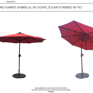 PARASOL WITH LIGHTS CLEARANCE SALE