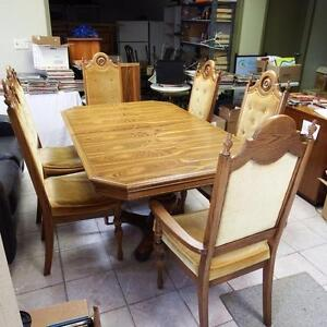 Solid Wood Eight Piece Dining room Set