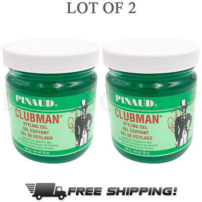 Pinaud Clubman Styling Gel for Men 16 oz Jars - Lot of (Styles For Men)