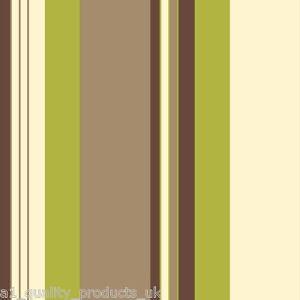 Debona carta da parati moderno righe verde beige grigio for Carta da parati a righe prezzi