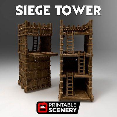 Siege Tower  28mm Tabletop Games Dwarven Forge D&D Terrain Wargaming Warhammer