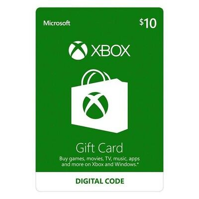 $10 XBOX Live $10 USD Gift Card - XBOX ONE and 360 - USA ONLY - Original