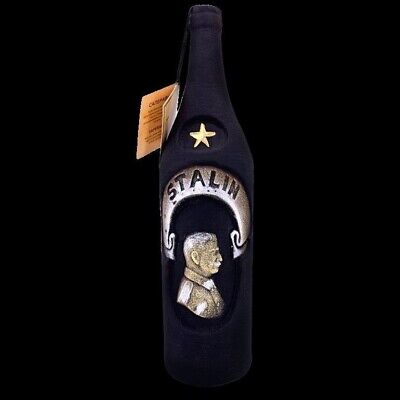 Rotwein Saperavi trocken 13% Keramikflasche Stalin Красное вино Саперави Сталин