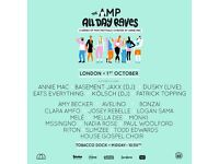 Annie Mac THE AMP ALL DAY RAVE tickets - Sat 1st Oct 2016 Tobacco Dock, London