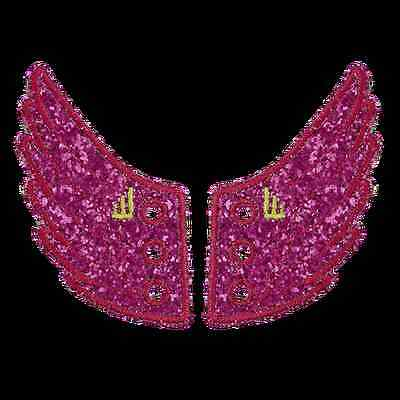 SHWINGS Fuscia Pink Sparkle wings for shoes official designer Shwings NEW -